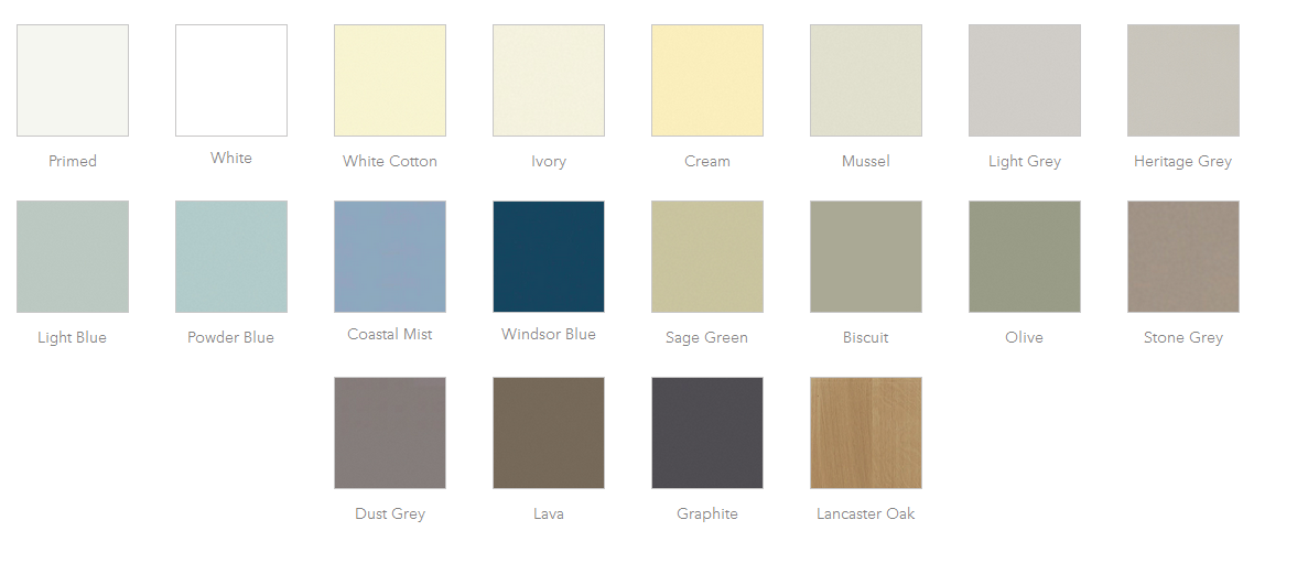 Carnegie Bespoke Kitchens Oxford Colour Chart