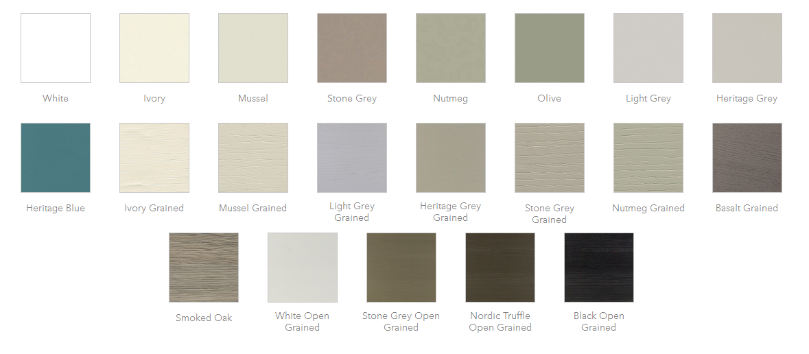 Reno Bespoke Fitted Kitchen Colour Chart