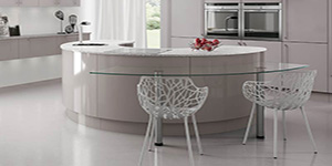 Curved Island Bespoke Fitted Kitchen Oxford Showroom