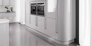 Curved Larder Bespoke Fitted Kitchen Oxford Showroom